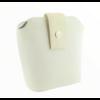 Kép 2/4 - Ága Hengl Hanga női bőr alkalmi táska, krém fehér