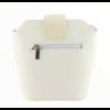 Kép 4/4 - Ága Hengl Hanga női bőr alkalmi táska, krém fehér