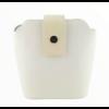 Kép 1/4 - Ága Hengl Hanga női bőr alkalmi táska, krém fehér