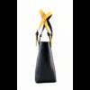 Kép 3/4 - Ága Hengl Korall S Extra női bőr válltáska, sárga-fekete