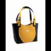 Kép 2/4 - Ága Hengl Korall S Extra női bőr válltáska, sárga-fekete