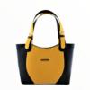 Kép 1/4 - Ága Hengl Korall S Extra női bőr válltáska, sárga-fekete