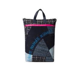 Desigual női divat hátizsák, Back Liberté Patch Baza, sötétkék