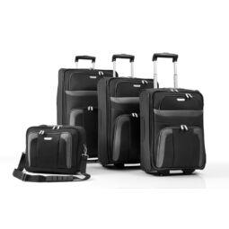 Travelite Orlando bőrönd szett,  fekete