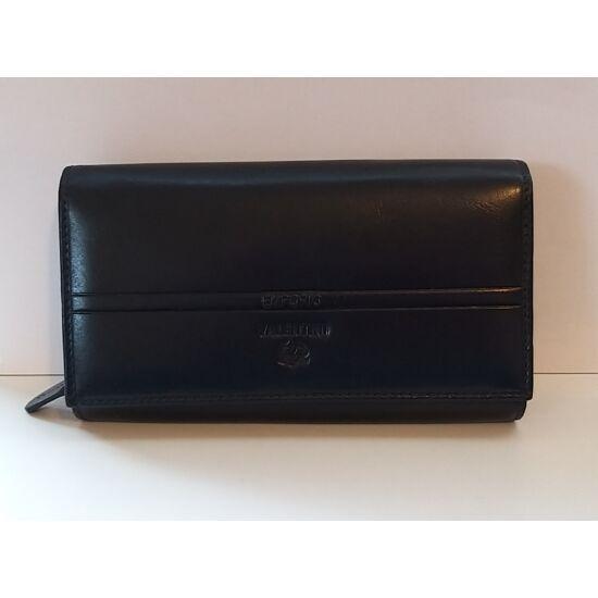 Bőr női pénztárca Emporio Valentini, patentos, sötétkék