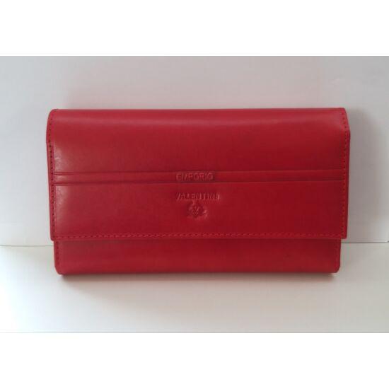 Bőr női pénztárca Emporio Valentini, patentos, piros