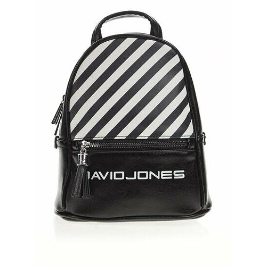 a104f40b1f27 David Jones női divat hátizsák, fekete,fehér csíkkal   Táskagaléria ...