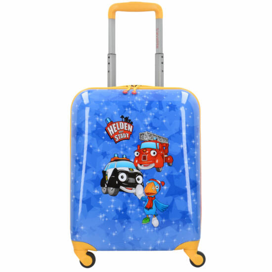 Travelite Helden der Stadt, 4 kerekű gyerek bőrönd S, kék