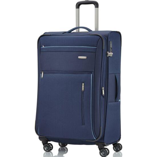 Travelite Capri L 4 kerekű bőrönd, kék