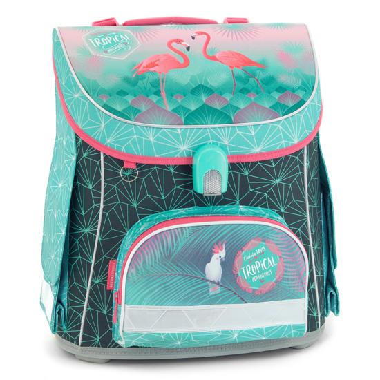 Ars Una Pink flamingo kompakt easy mágneszáras iskolatáska
