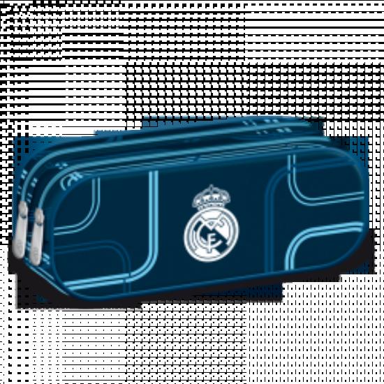 Ars Una Real Madrid kék tolltartó dupla cipzáras