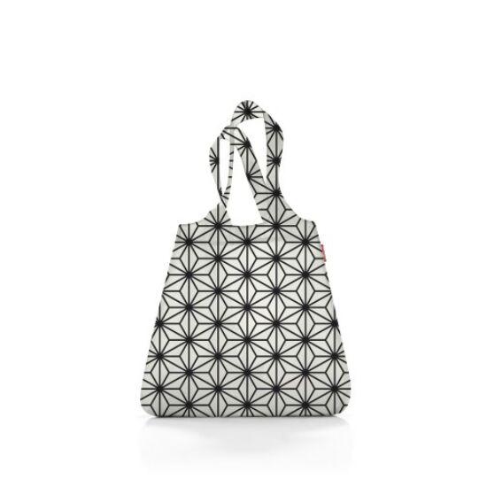 Reisenthel mini maxi shopper, geometric fehér-fekete