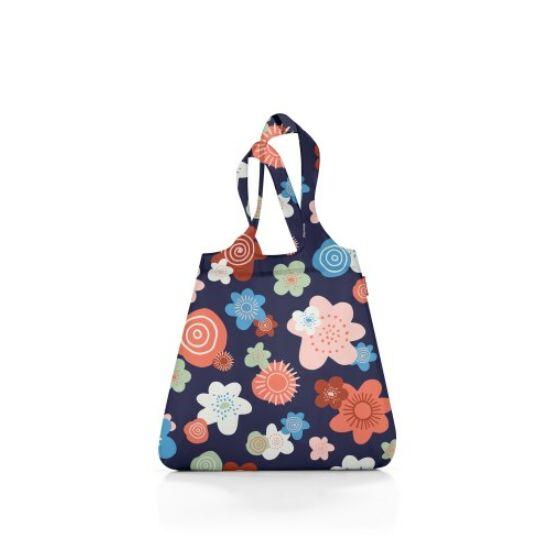Reisenthel mini maxi shopper, kék virágos