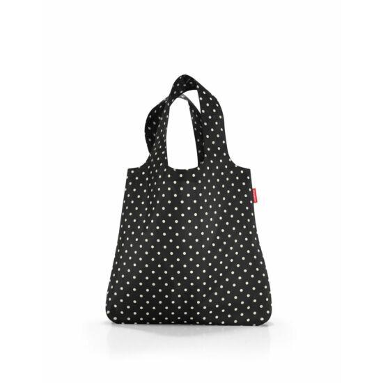 Reisenthel mini maxi shopper, fekete-fehér pötty