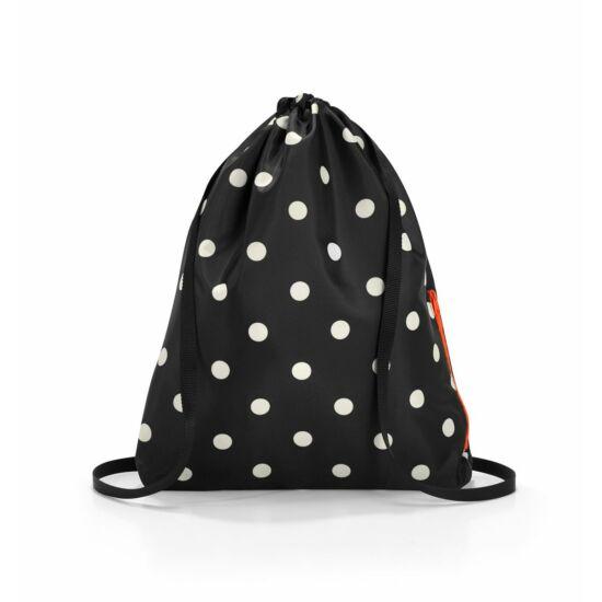 Reisenthel mini maxi sacpack hátizsák, fekete-fehér pötty