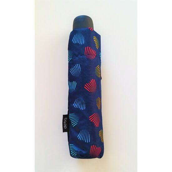 DERBY Hit Mini Emotion manuális esernyő, kék alapon mintás