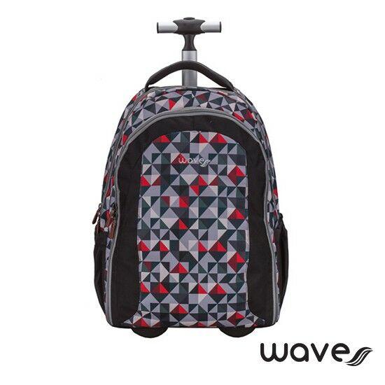 Wave Easy-Go trolley és hátizsák egyben, Red Puzzle