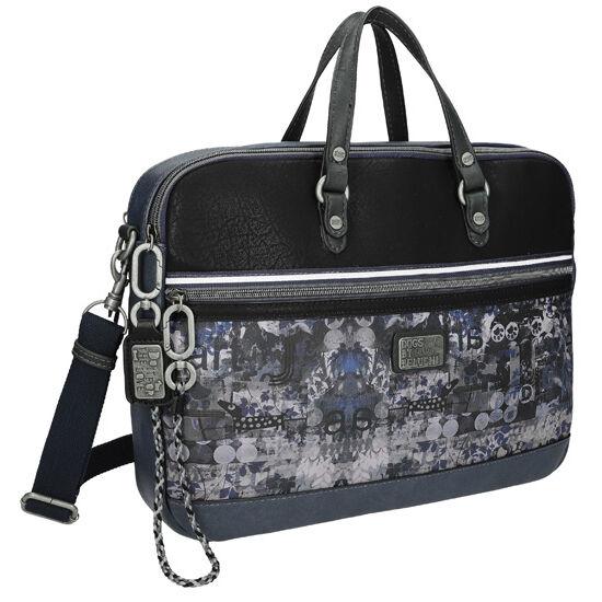 Dogs by Beluchi Leaf, Üzleti táska, hosszú pánttal, kék