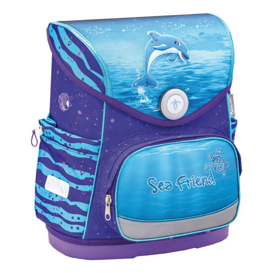 Belmil Compact merev falú iskolatáska, Dolphin