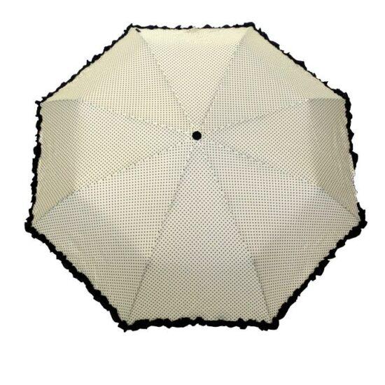 SMATI automata esernyő, bézs-fekete pöttyös