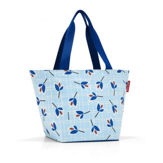 Reisenthel Shopper M, leaves blue