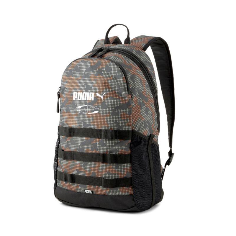 Puma Style hátizsák, szürk-narancs-mintás