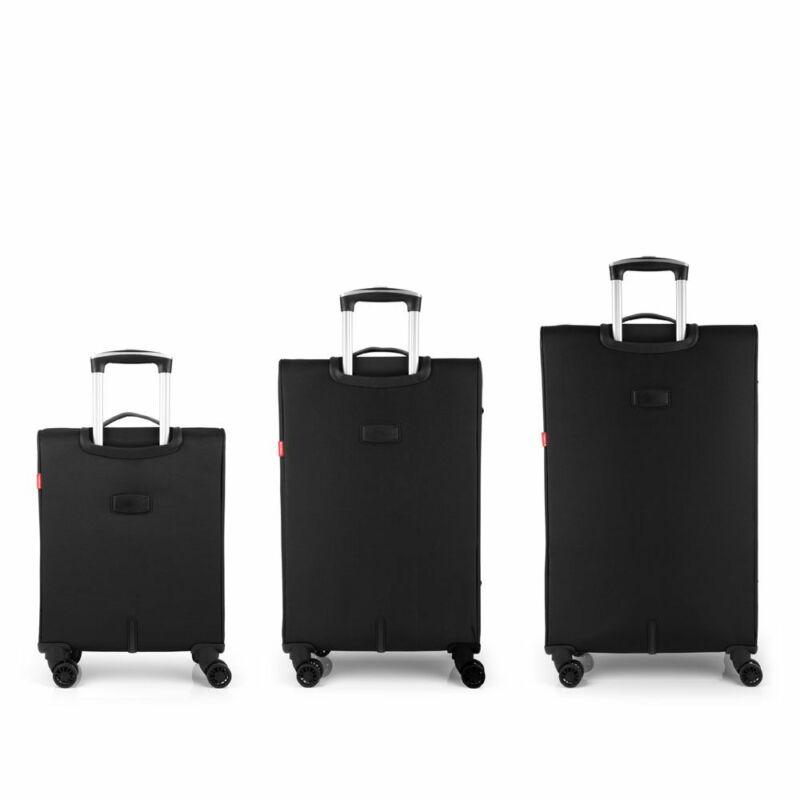Gabol ZAMBIA 4-kerekes bőrönd szett, fekete