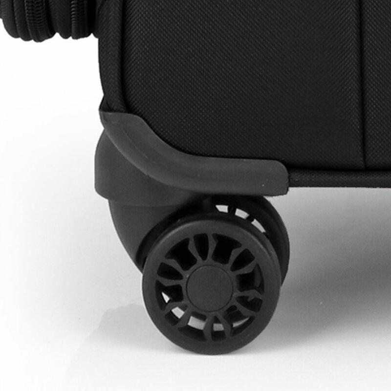 Gabol ZAMBIA 4-kerekes bővíthető bőrönd M, fekete