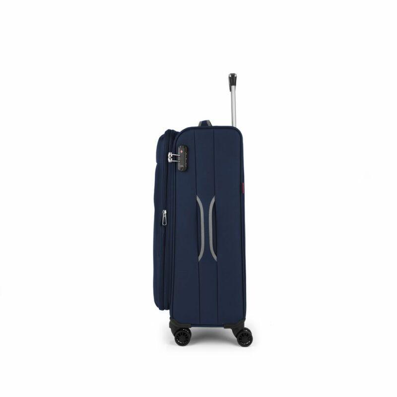 Gabol ZAMBIA 4-kerekes bővíthető bőrönd M, sötétkék