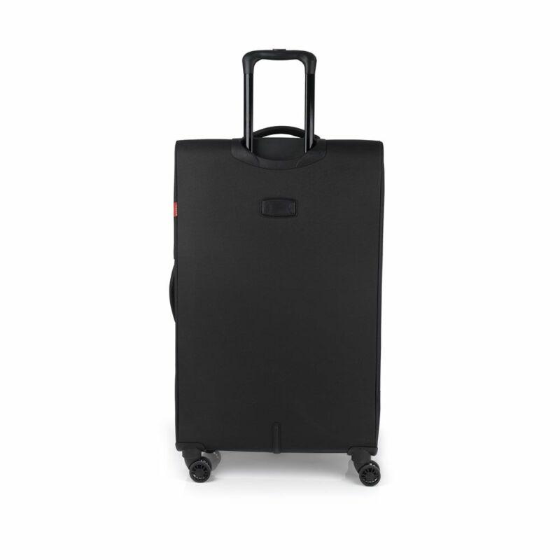 Gabol NORDIC 4-kerekes bővíthető bőrönd L, fekete
