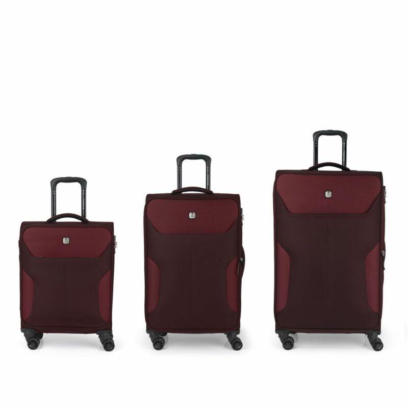 Gabol NORDIC 4-kerekes bőrönd szett, bordó