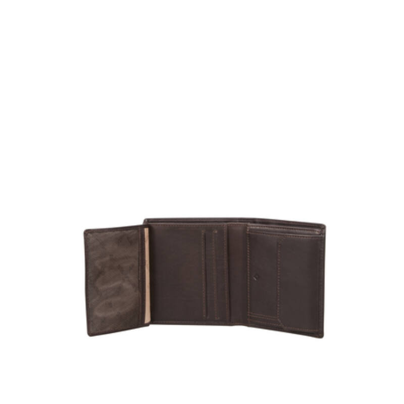 Samsonite bőr pénztárca ATTACK 2 SLG, álló fazon, barna