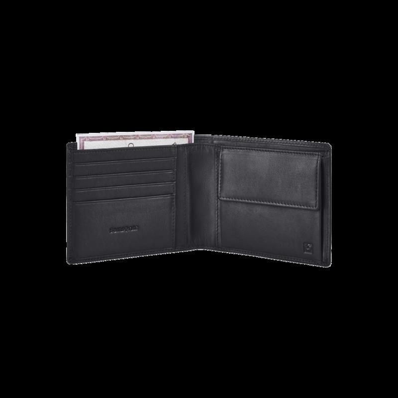 Samsonite bőr pénztárca SUCCESS 2 SLG, fekete