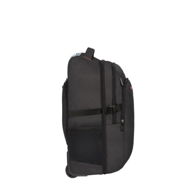 "American Tourister AT WORK gurulós laptop hátitáska 15""6, fekete / narancs"