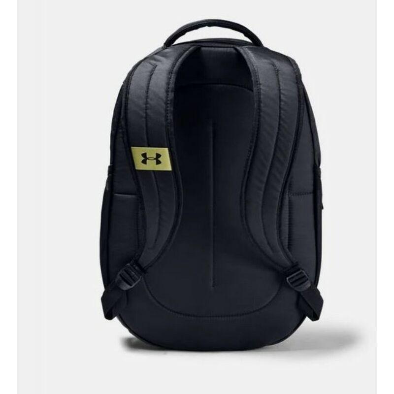 Under Armour UA Hustle 4.0 hátizsák, fekete-zöld