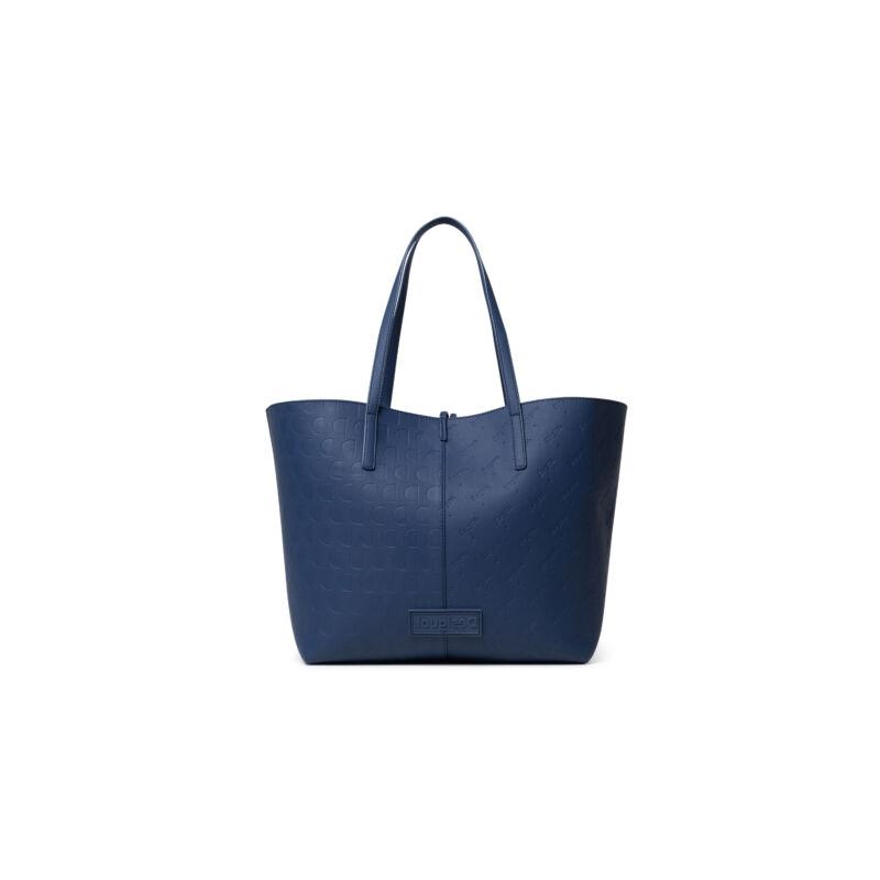 Desigual női divattáska, Bols Alma Sicilia REV., kék-mustár