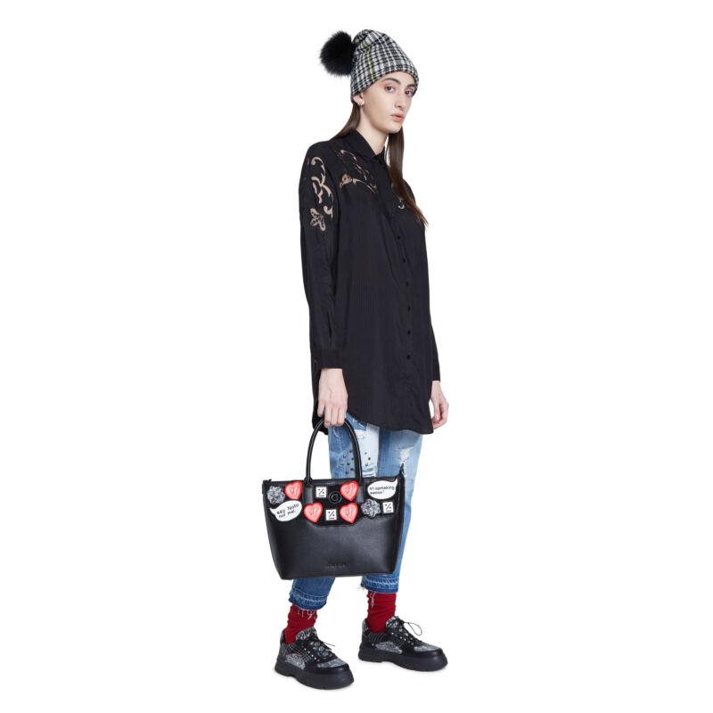 Desigual női divattáska, Bols Magpie Holbox Mini, fekete