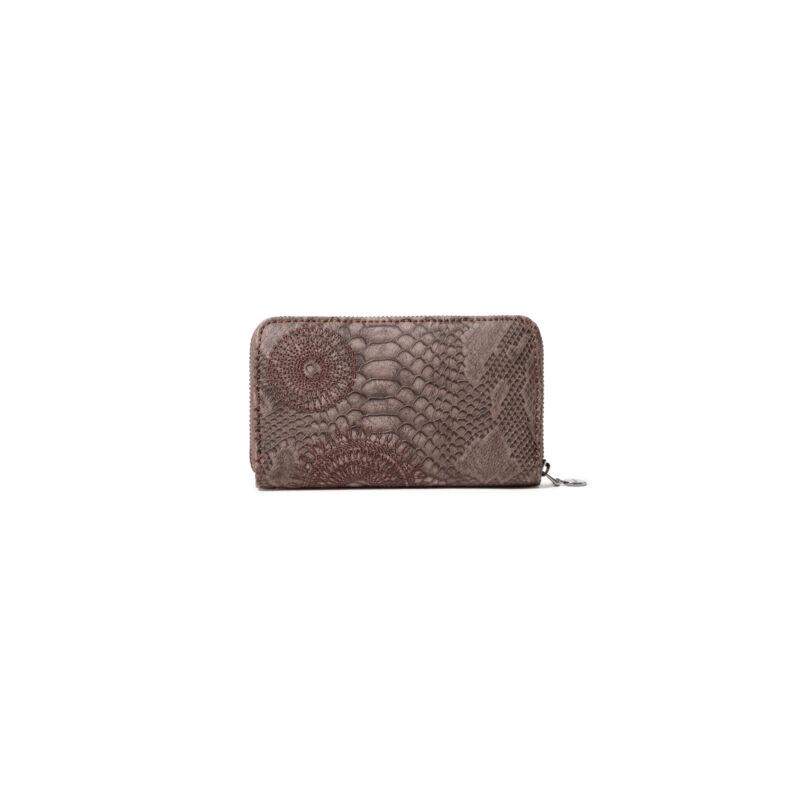 Desigual női pénztárca, Mone Criseida Mini Zip, barna