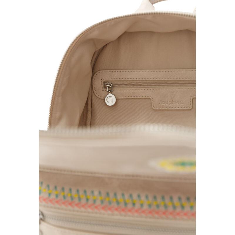 Desigual női divat hátizsák, Back Carlina Nazca Mini, drapp
