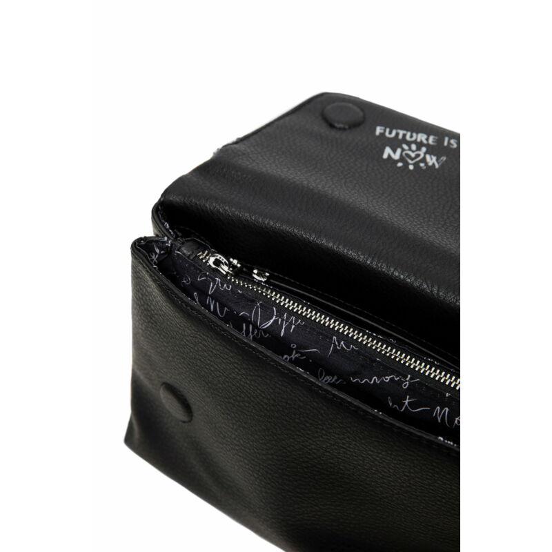 Desigual női divattáska, Bols Embossed Half Logo Venecia, fekete