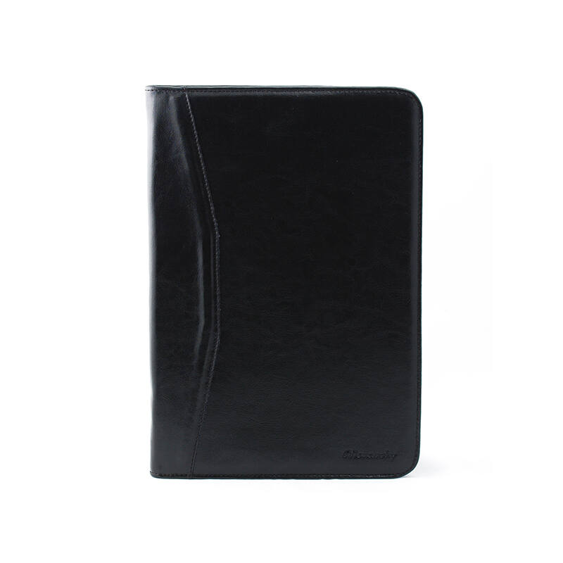 Monarchy A/4-es bőr mappa, fekete