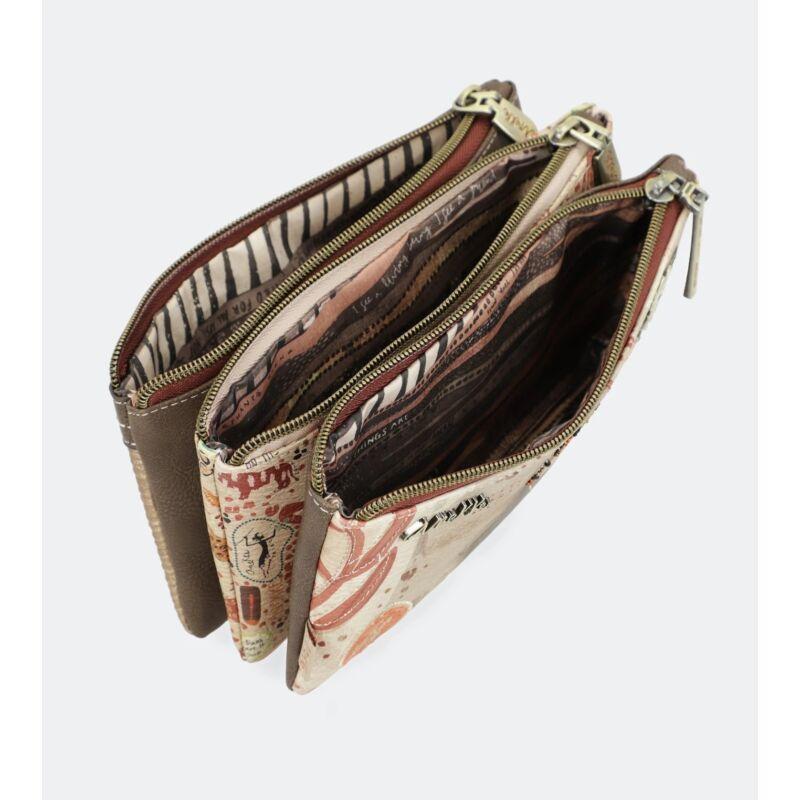 Anekke Kenya, 3 rekeszes tolltartó / pénztárca