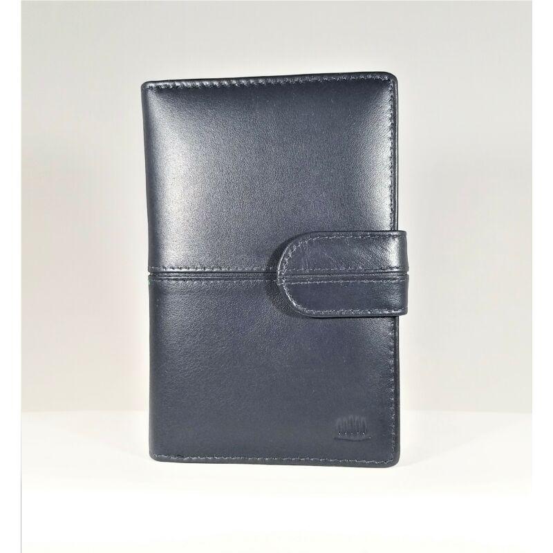Bőr női pénztárca, átkapcsos, kék