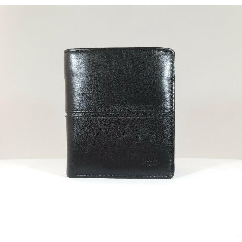 Bőr férfi pénztárca, fekete