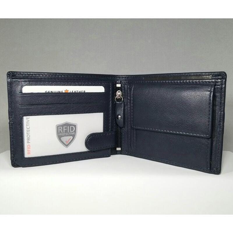 Bőr férfi pénztárca, kék