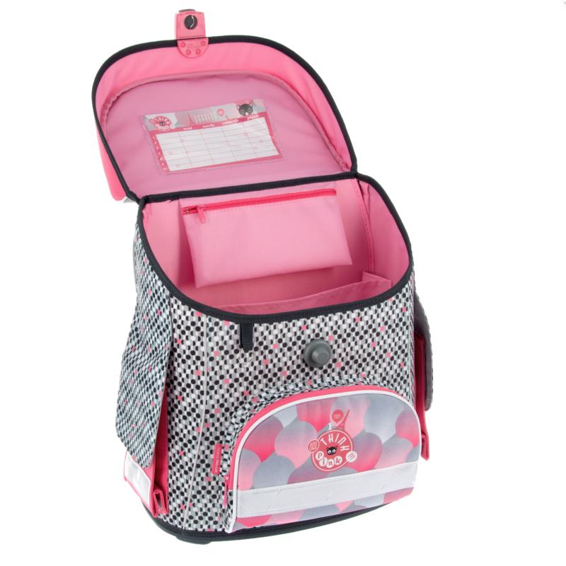 Ars Una Think-Pink kompakt easy mágneszáras iskolatáska, Paris