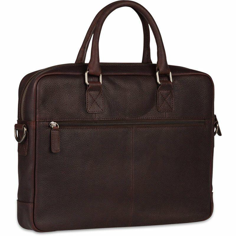 "Burkely Antique Avery férfi bőr laptoptáska 15,6"", barna"