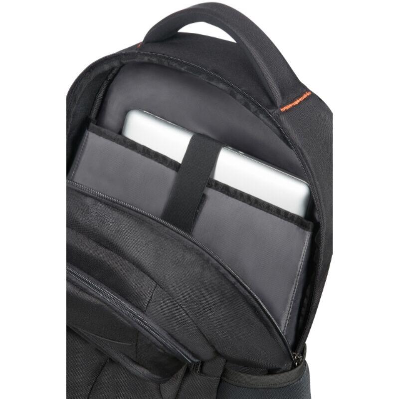 "American Tourister AT WORK laptop hátitáska 17,3"", fekete-narancs"