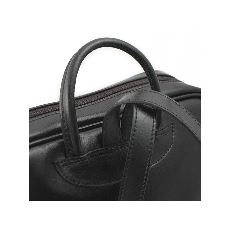 Monarchy női bőr hátizsák, fekete