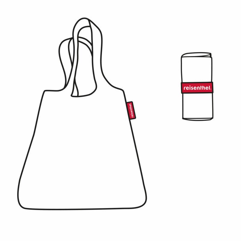 Reisenthel mini maxi shopper, pisztácia virágos